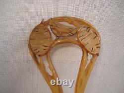 PEIGNE Ancien en Corne ART NOUVEAU Hair Comb 1900
