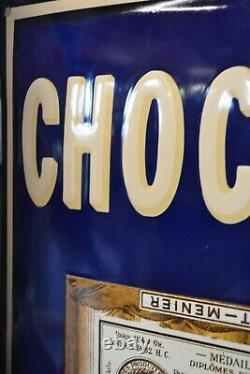 PLAQUE EMAILLEE MENIER chocolat enamel sign emaischild