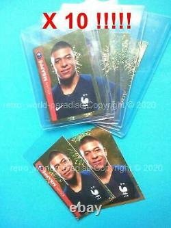 Panini Mbappe Rookie Psa 10 Euro 2020 Stickers X 10 Or Gold Limited #26 Invest
