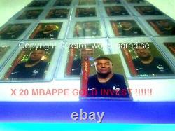 Panini Mbappe Rookie Psa 10 Euro 2020 X 20 Or Gold Limited Reflector #26