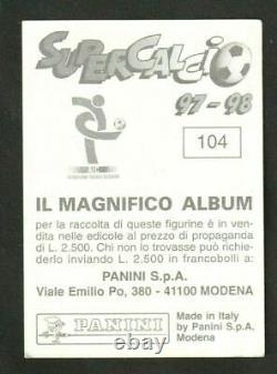 Panini Zidane 1997 1998 Juventus Supercalcio New Very Rare Superfoot 97 France