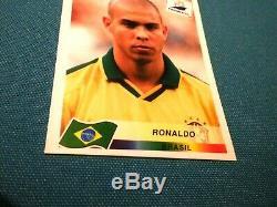 Panini Zidane Ronaldo Sticker New Mint Neuf France 98 World Cup Rookie