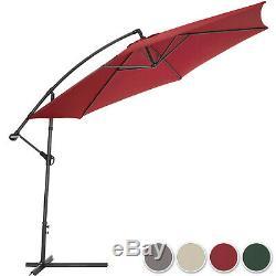 Parasol excentré + protection uv 3,50m 350 cm + housse de protection