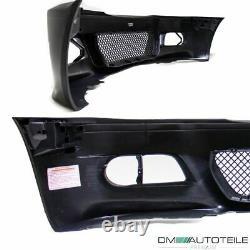 Parechoc avant pour BMW E46 Coupe Cabrio 99-03 + Grille ABS pour M3 + noir