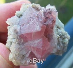 Pink Fluorite/Fluorine rose, Col de la Verte, Alpes, France