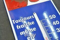 Plaque Emaillee Thermometre Vache Qui Rit 72 CM