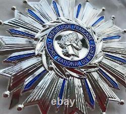 Plaque de Grand Officier de l'Ordre National du Mérite métal argenté