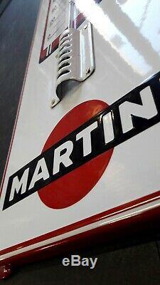 Plaque émaillée Martini thermomètre 75 cm 22 cm