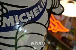 Plaque émaillée Michelin Bibendum pneu enamel sign