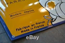 Plaque émaillée Michelin paradis 8038 cm bombée