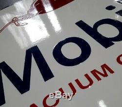 Plaque émaillée Mobiloil 50 cm 50 cm
