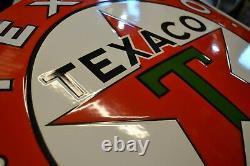 Plaque émaillée TEXACO enamel sign emailschild 55 cm
