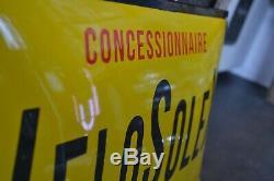 Plaque émaillée Vélo Solex 50 cm 40 cm
