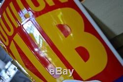 Plaque émaillée kub 1 mètre 30 cm