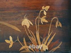 Plateau en bois Art Nouveau Emile Gallé
