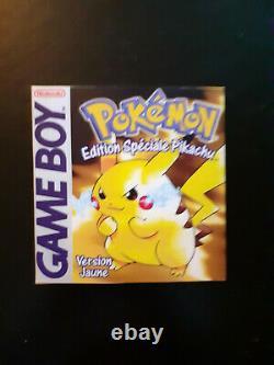 Pokémon Version Jaune Complet Gameboy Pal Fr Édition Spéciale Pikachu