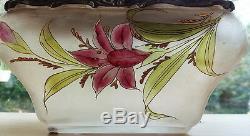 Pot A Biscuit Rectangulaire Epoque Art Nouveau Decor Emaille Floral Et Or