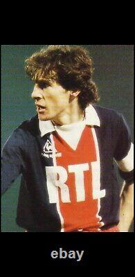 RARE Maillot PSG RTL 1981/1985 6x7 trikot maglia jersey