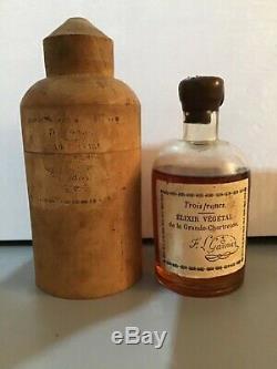 Rare & Ancien Elixir De La Grande Chartreuse Trois Francs 19ème Siècle