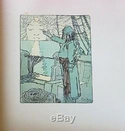 Rare Eo 1900 Art Nouveau Belle Reliure + Anatole France + Alphonse Mucha Clio