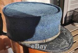 Rare Képi Gendarmerie nationale Mod. 16 drap BLEU HORIZON grenade brodée ORIGINAL