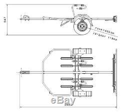 Remorque / Porte-velos 4 Velos Sur Attelage Remorque 2 Roues Mottez A354s