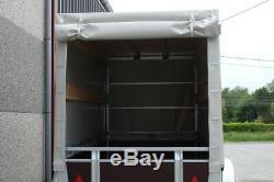 Remorque double essieux 300 x 130 bache haute livrable en france métropolitaine