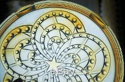 SABINO ETLING EZAN VERLYS RAVISSANTE DESSOUS PLAT VERRE OPALESCENT ART-Nouveau