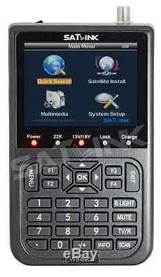 SATLINK WS-6908 DIGITAL SATFINDER ECRAN LCD POINTEUR SATELLITE TV exp 24H FRANCE