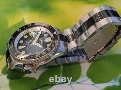 SKX007 MOD BLACK & WHITE based on Seiko prospex Nh35 Seiko movement 200M WP