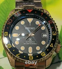 SKX007 ROSE GOLD MOD based on Seiko prospex Nh35 Seiko movement 200M WP