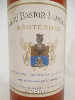 Sauternes château bastor-lamontagne liquoreux 1959 bordeaux france