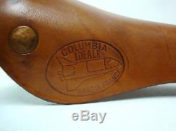 Selle de vélo en cuir Idéale Columbia Licence Christol Made in France Neuve