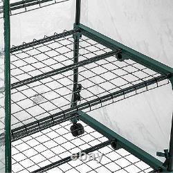 Serre de jardin 3 étages mobil metal tente abri légume fruit plante mini 133cm