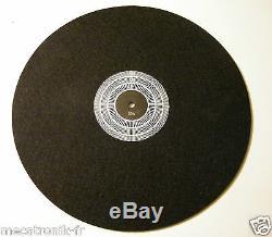 Tapis couvre plateau feutre antistatique pour platine vinyle avec strobe 50Hz
