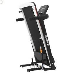 Tapis de course électrique pliable Fitness Sport marche capteur cardio écran LCD