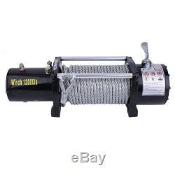 Treuil Electrique 12V Traction Max 2000lb12000lb + Télécommande+ Crochets FRANC