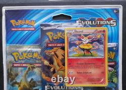 Tripack Pokémon Contient 2 boosters XY 12 Evolutions NEUF FR