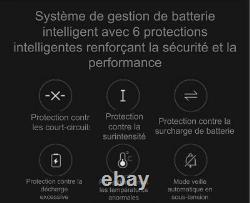 Trottinette électrique pliable batterie lithium 350W 36V 7,8Ah 25kmh pneus 8.5