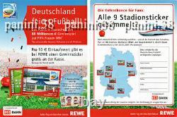 ULTRA RARE! REWE Empty Sheet WOMEN'S GERMANY 2011 Stadiums PANINI