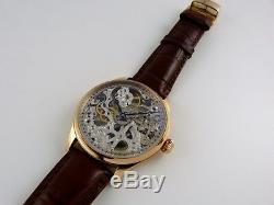 UNIQUE Montre squelette Seagull type UNITAS 6497 skeleton watch ROSEGOLD