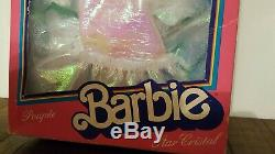 Ultra Rare Crystal Barbie Star Cristal Made In France 1983 Mib Introuvable