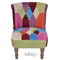 Un ou deux fauteuils de style France design patchwork multi couleur élégant