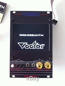VECTOR Video Module EURORACK par Razmasynth, NEUF! DU-NTSC avec overlay Vectrex
