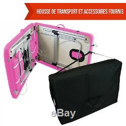 VIVEZEN TABLE DE MASSAGE PLIANTE 2 ZONES EN ALUMINIUM / Pliable Portable