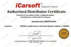 Valise Diagnostic Auto Multimarque Obd2 100% Francais Icarsoft Cr Pro