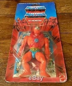 Vintage 8 back Beast Man Le Monstre MOTU France Masters of the Universe MOC new