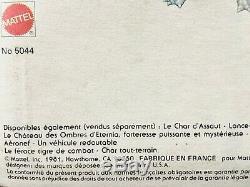 Vintage Zodac France MOTU Maîtres de l'Univers Masters of the Universe MOC new