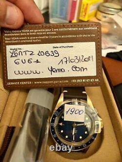 YEMA SUPERMAN BRONZE GMT 39mm blue. Limited Edition 1900/1948