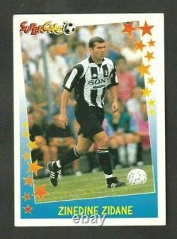 Zidane Panini Juventus Supercalcio 1997 1998 New Very Rare Superfoot 97